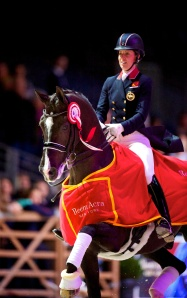 Charlotte Dujardin (GBR) and Valegro won the 2014 Reem Acra FEI World Cupª Dressage Final in Lyon