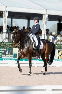 Adrienne Lyle (USA) & Wizard at 2014 Nations Cup Wellington (c) Susan J Stickle