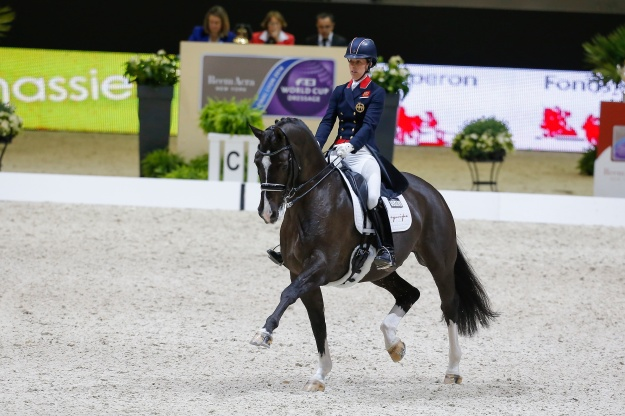 Charlotte Dujardin (GBR) and Valegro will be defending their title after clinching the 2014 Reem Acra FEI World Cup Final in Lyon, France © FEI/ Dirk Caremans