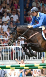 Christian Ahlmann and Codex One, winners of the CHIO Aachen Grand Prix (c) Rolex/Kit Houghton