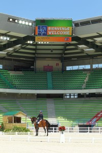 Carl Hester (GBR)  riding Nip Tuck at the WEG Dressage Test event at Stade d'Ornano, main venue for the Alltech FEI World Equestrian Games™
