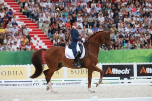 Dutch rider Adelinde Cornelissen and Jerich Parzival N.O.P. take the Bronze -  (c) CO Normandie 2014PSV