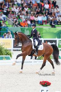 WEG fairy-tale for U.S. rider Laura Graves and Verdades who finished 5th in the world! photo (c) Susan J Stickle