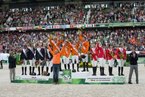 Team Gold for The Netherlands, while France takes Silver and the US takes Bronze (c)  Hippo Foto Team - Leanjo De Koster / FEI