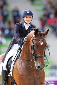 Laura Graves (USA) & Verdades at WEG 2014 (c) Susan J. Stickle