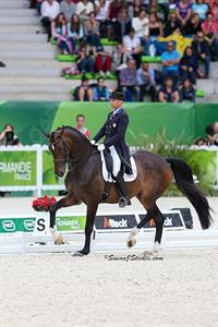 Steffen Peters & Legolas 92 at WEG 2014 (c) Susan J. Stickle