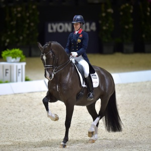Great Britain's Charlotte Dujardin and her magical horse Valegro are coming to Las Vegas to defend their title! (c) FEI/Arnd Bronkhorst/Pool Pic