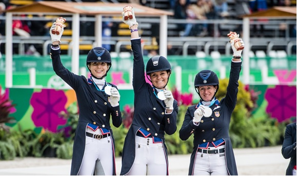 Pan Am Dressage Silver Medal Team -- USA